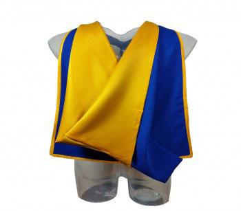 Akademischer Hood in blau-gelb