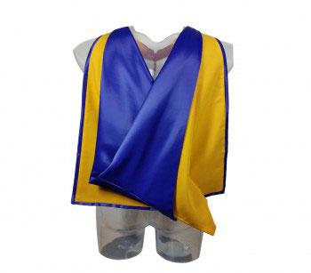 Akademischer Hood in gelb-blau