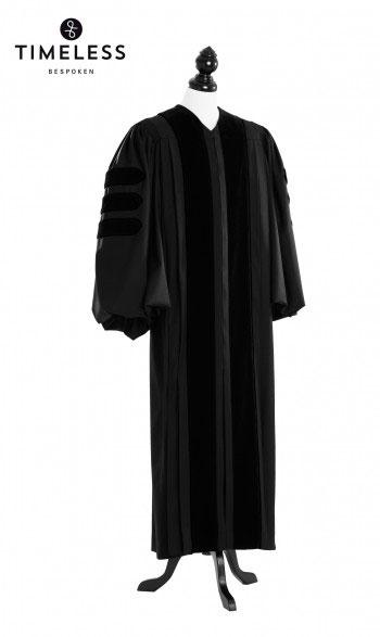 Deluxe Doctoral Academic Talar, TIMELESS gold silk, Herren