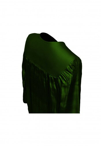 Doktorhut, Talar & Jahreszahlquaste, Qualität Shiny, forst-grün