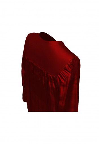 Doktorhut, Talar & Jahreszahlquaste, Qualität Shiny, bordeaux-rot