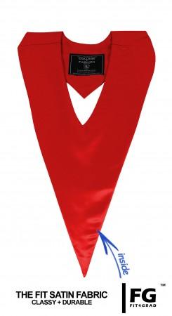 Schärpe V-Form rot