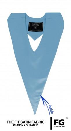 Schärpe V-Form hell-blau