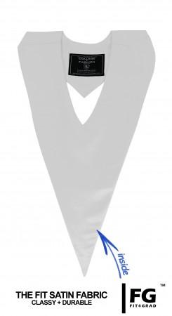 Schärpe V-Form weiss