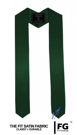 Schärpe Abschluss spitz forst-grün