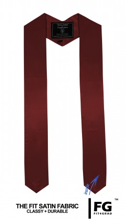 Schärpe Abschluss spitz bordeaux-rot