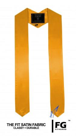 Schärpe Abschluss spitz gold-gelb