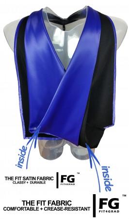 Akademischer Hood in schwarz-blau