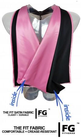 Akademischer Hood in schwarz-rosa
