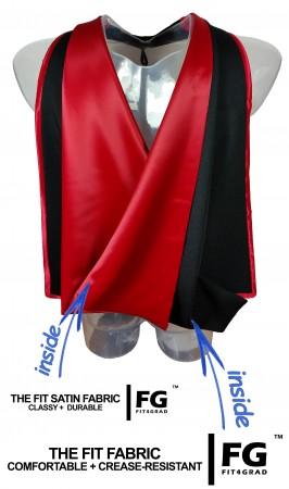 Akademischer Hood in schwarz-rot