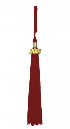 Quaste (Tassel) mit Jahreszahl bordeaux-rot