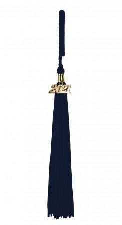 Quaste (Tassel) mit Jahreszahl dunkelblau