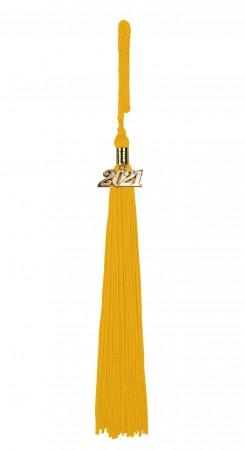 Quaste (Tassel) mit Jahreszahl gold-gelb