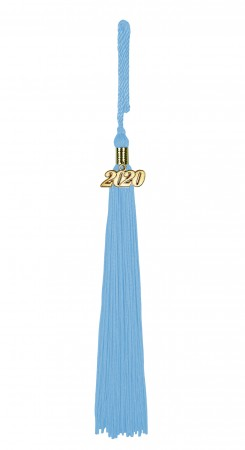 Quaste (Tassel) mit Jahreszahl hell-blau