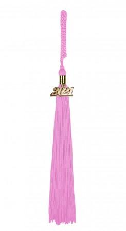 Quaste (Tassel) mit Jahreszahl rosa