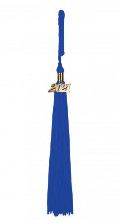 Quaste (Tassel) mit Jahreszahl royal-blau