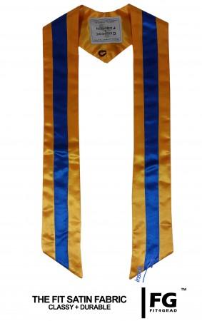 mehrfarbige Schärpe in gelb/blau/gelb