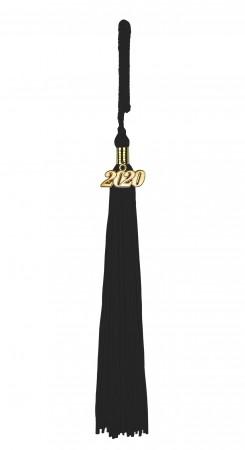 Quaste (Tassel) mit Jahreszahl schwarz
