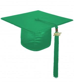 Doktorhut, GLANZ, Einheitsgröße, smaragd-grün