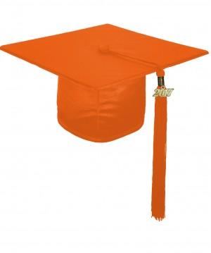 Doktorhut, GLANZ, Einheitsgröße, orange