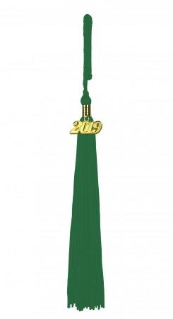Quaste (Tassel) mit Jahreszahl smaragd-grün