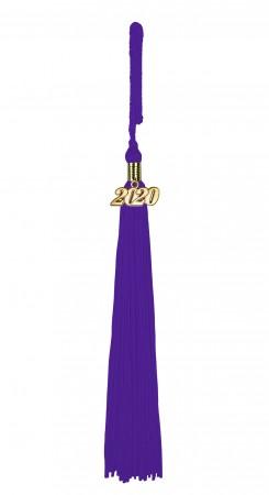 Quaste (Tassel) mit Jahreszahl violett