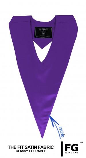 Schärpe V-Form violett