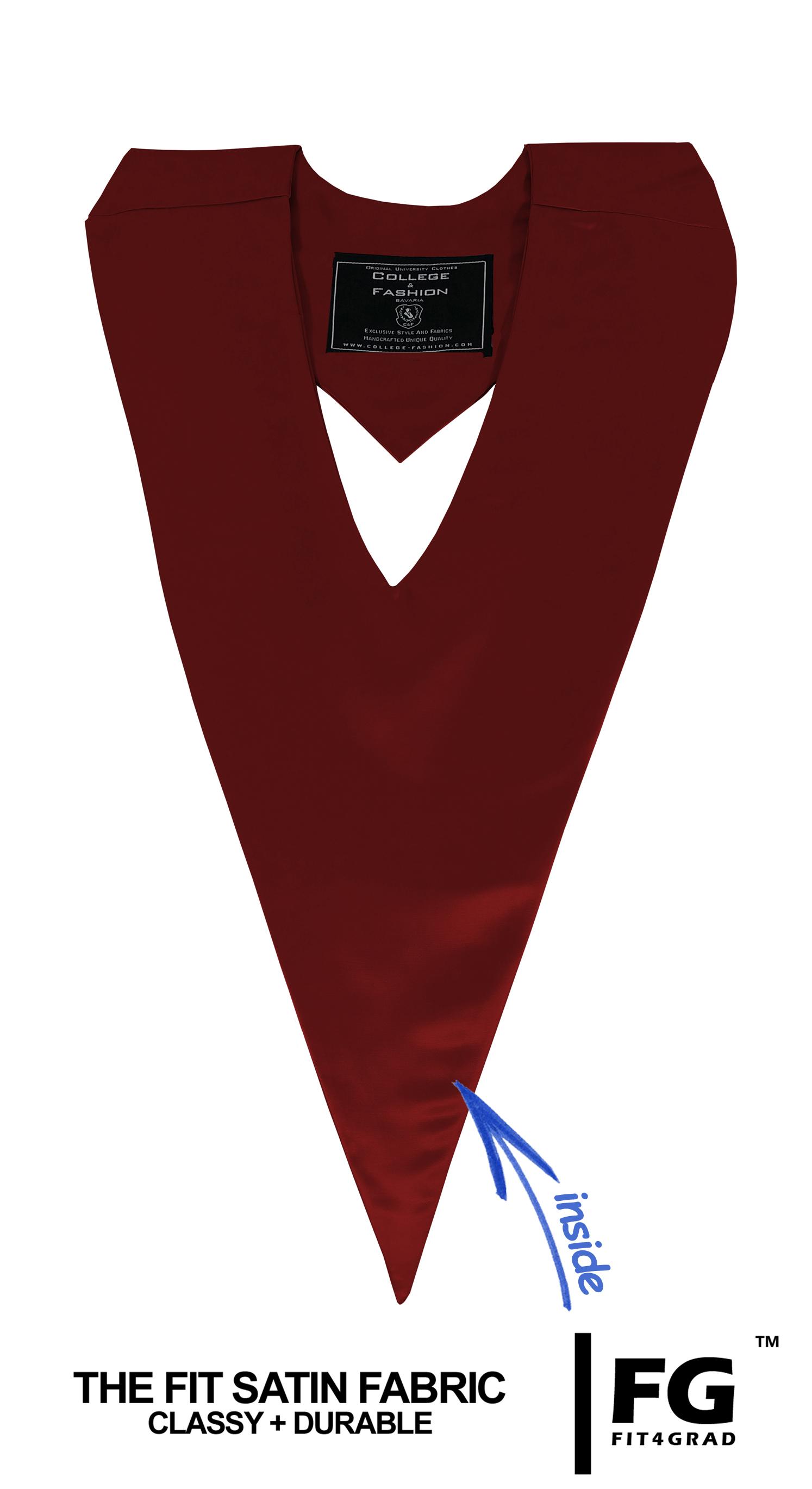 Schärpe V-Form bordeaux-rot