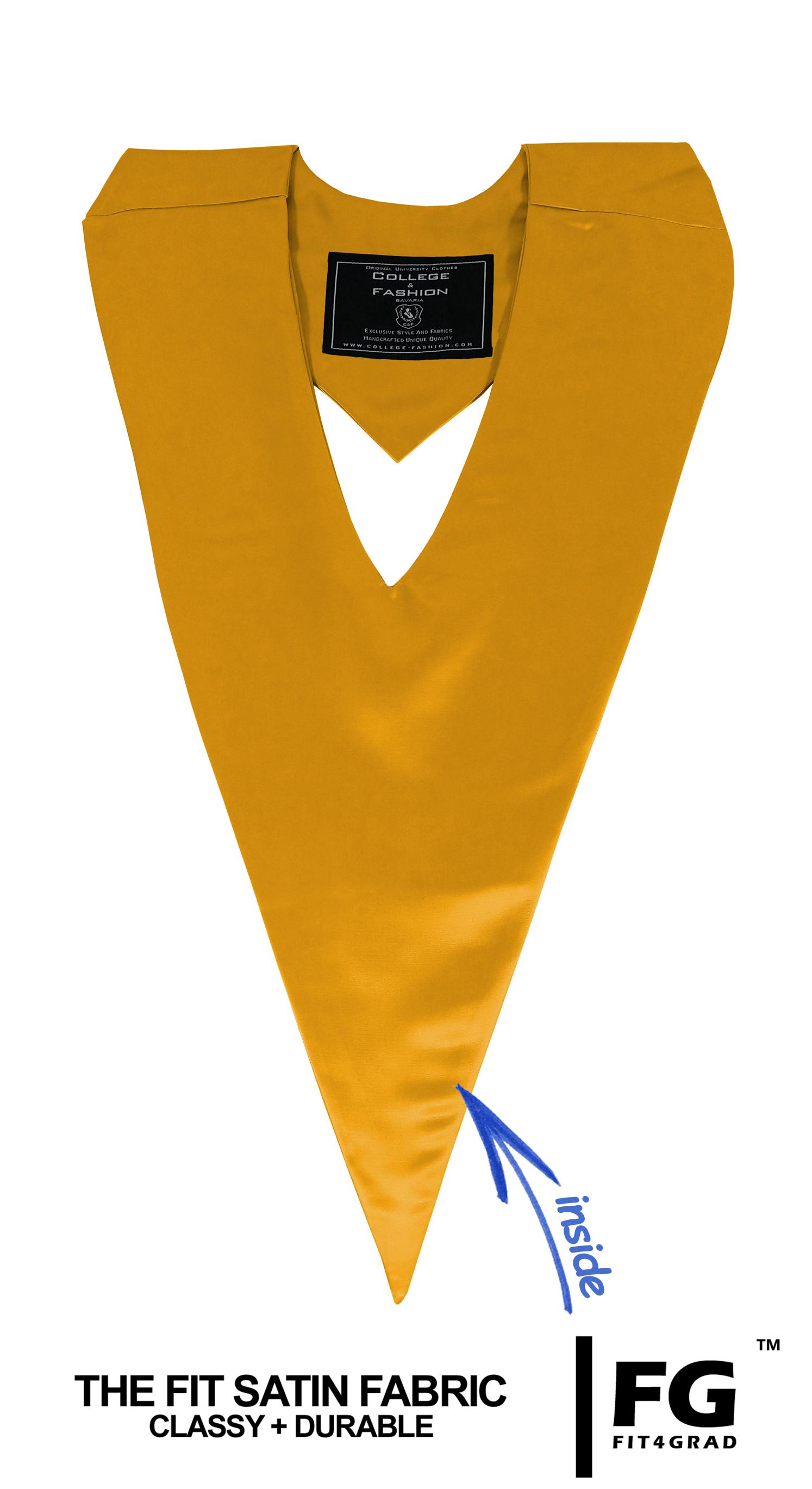 Schärpe V-Form gold-gelb