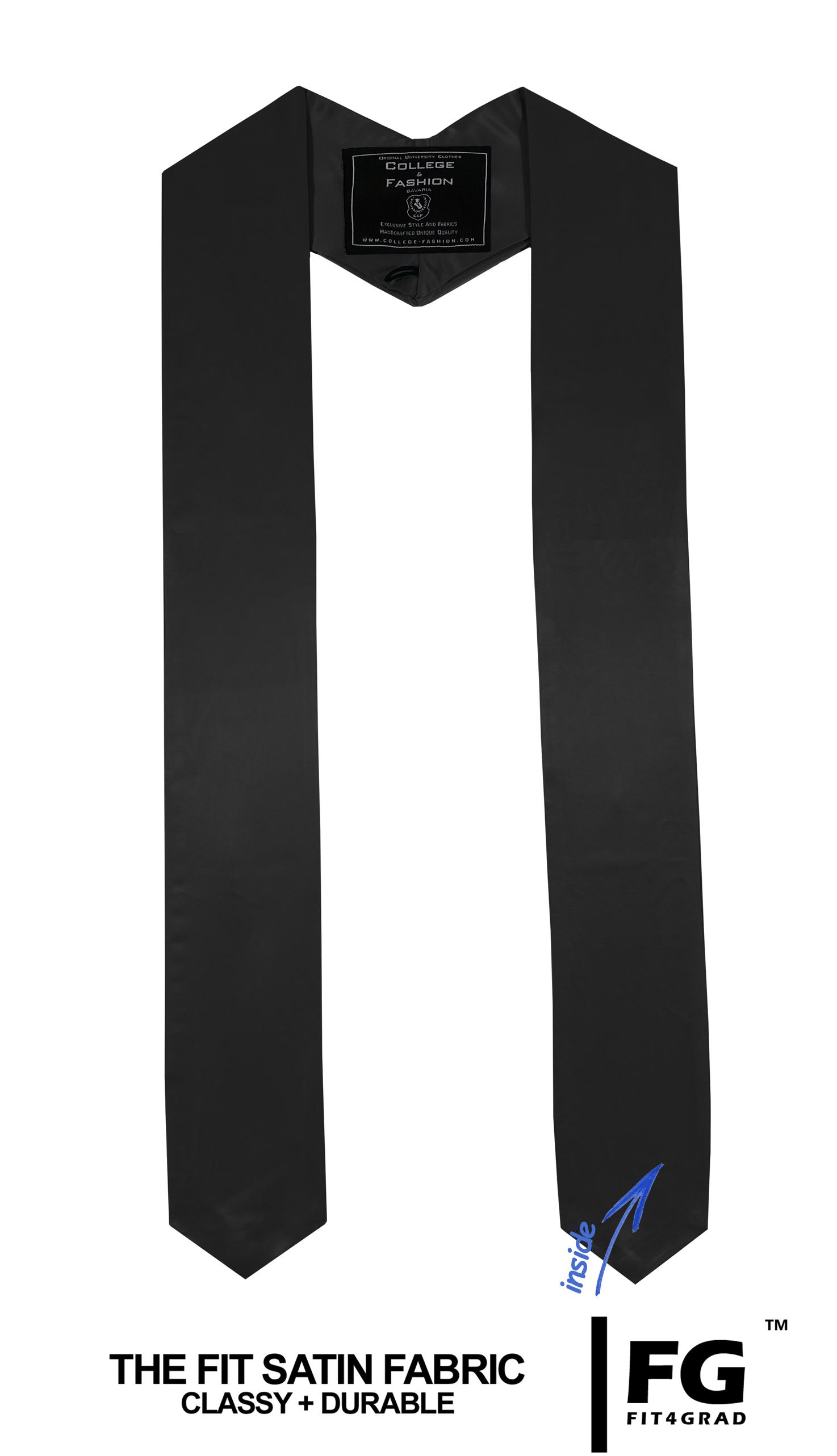 Schärpe Abschluss spitz schwarz