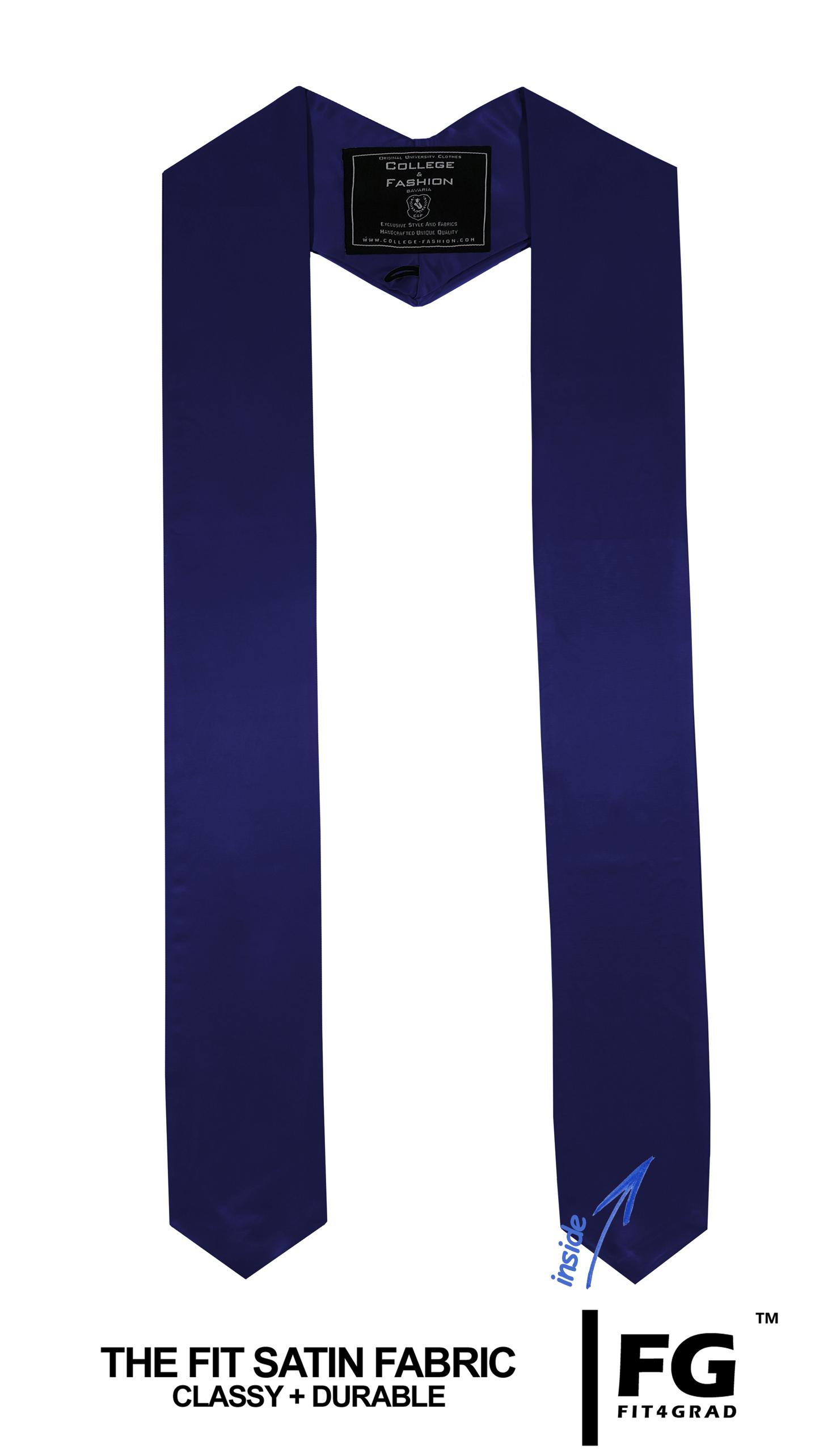 Schärpe Abschluss spitz dunkelblau