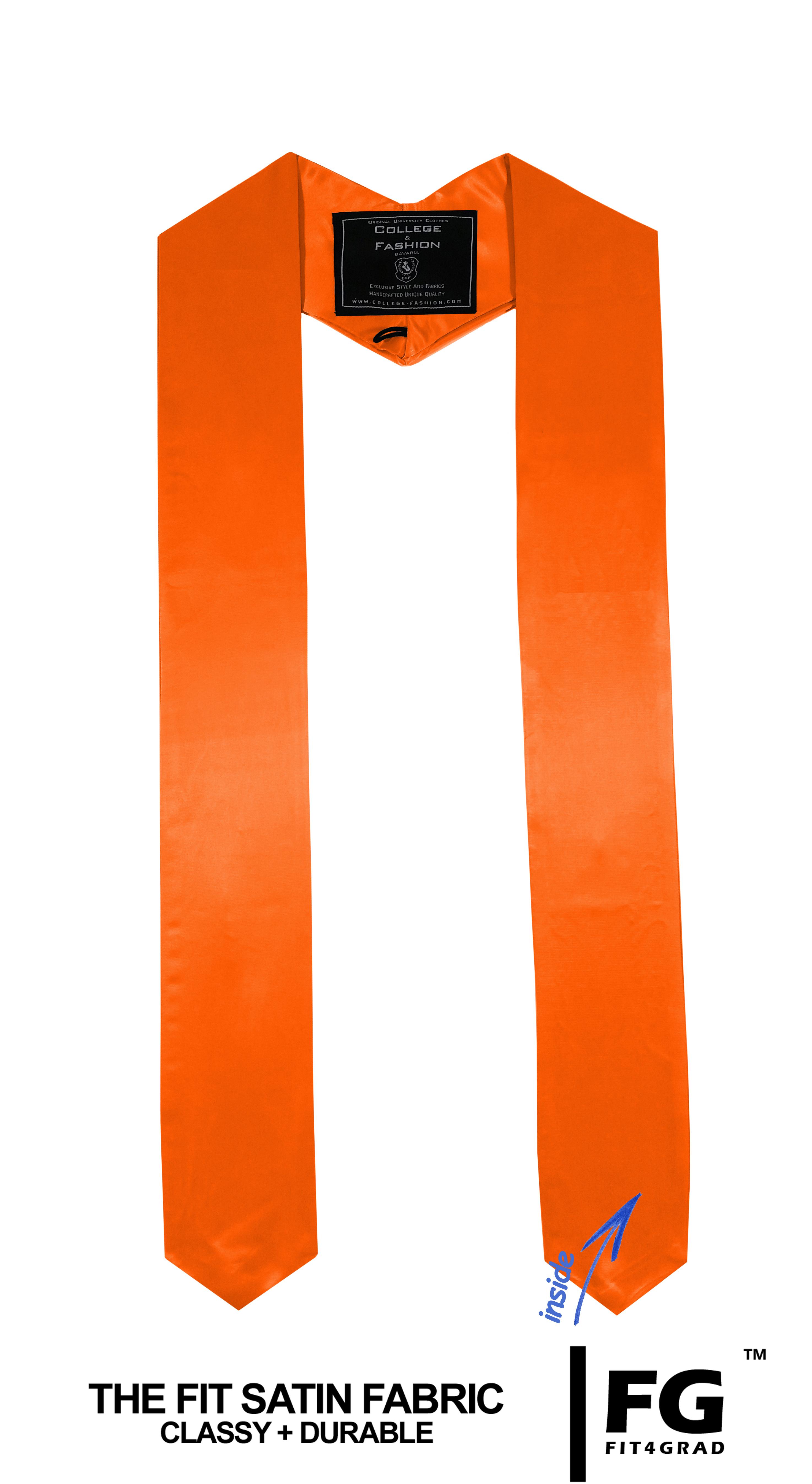 Schärpe Abschluss spitz orange