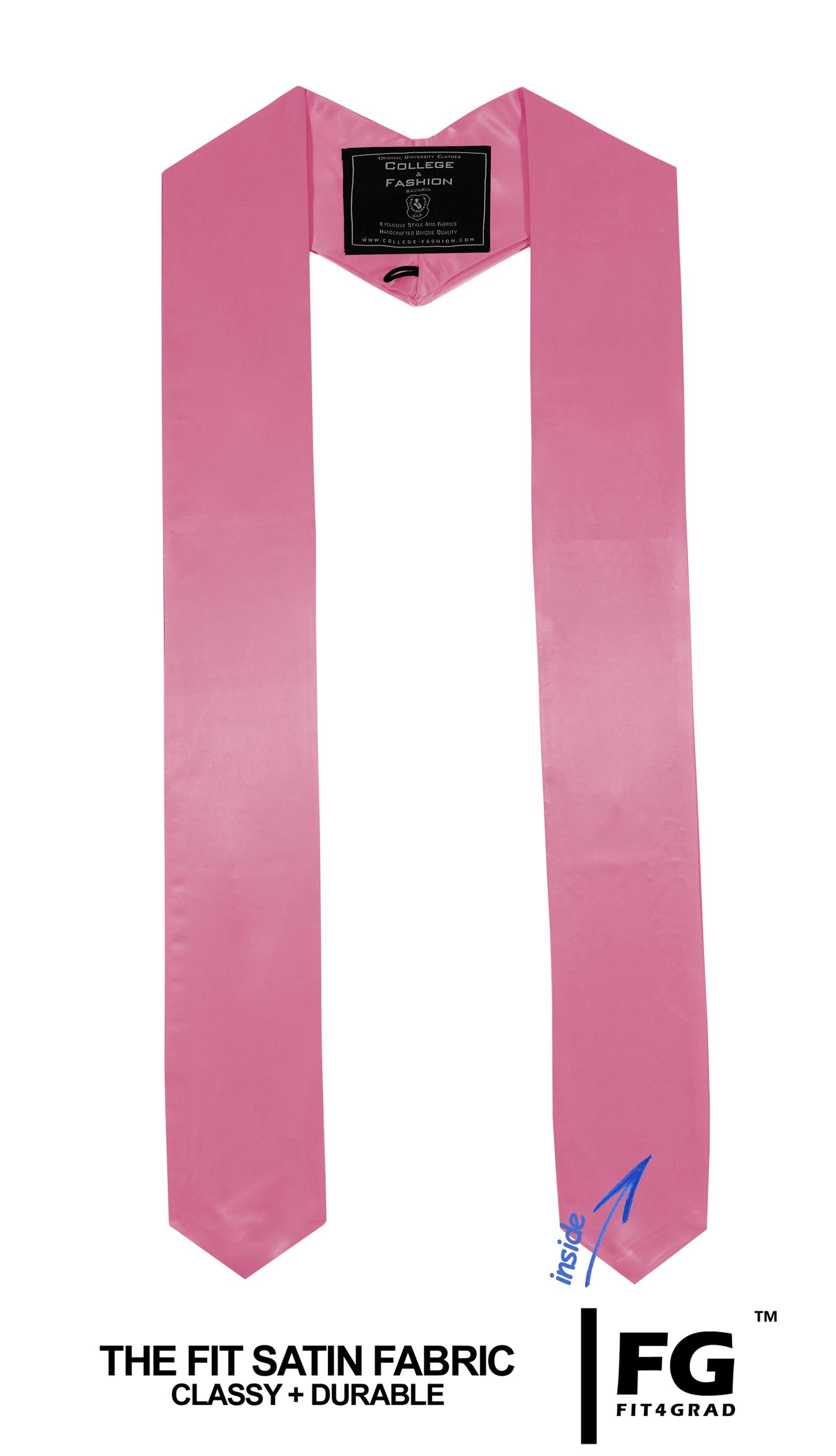Schärpe Abschluss spitz rosa