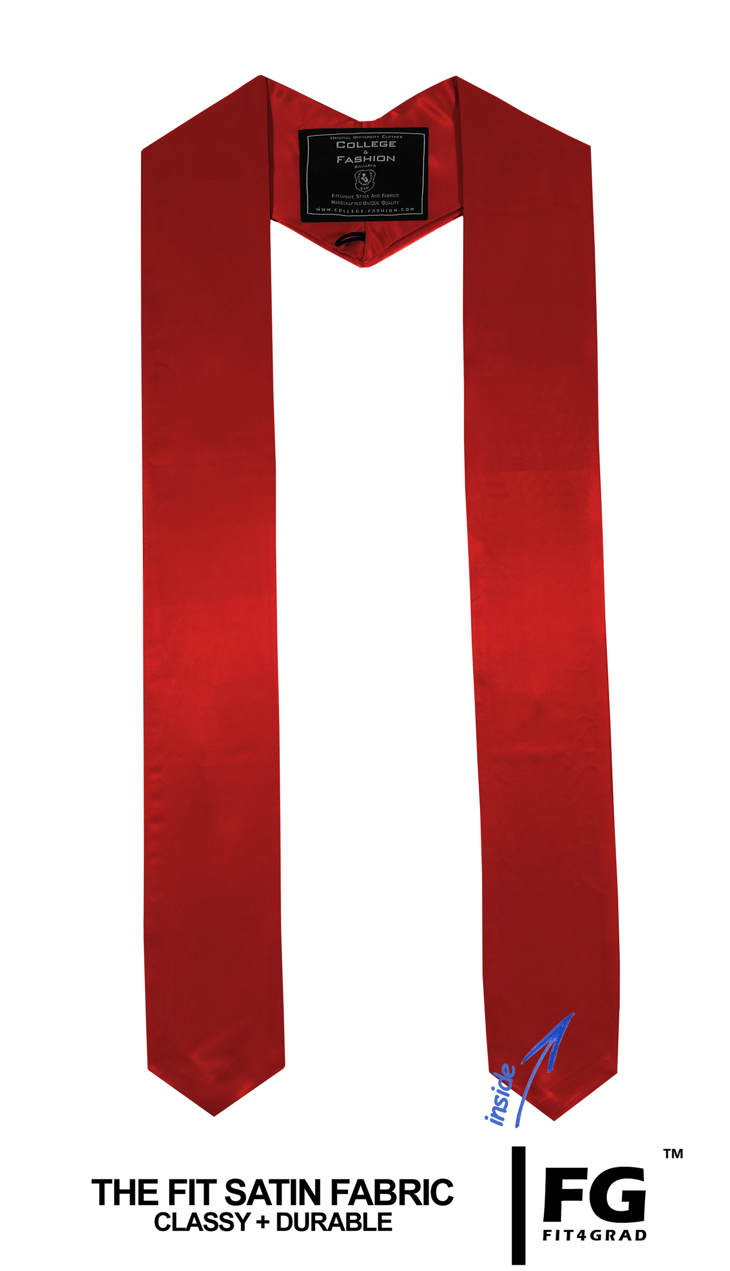 Schärpe Abschluss spitz rot
