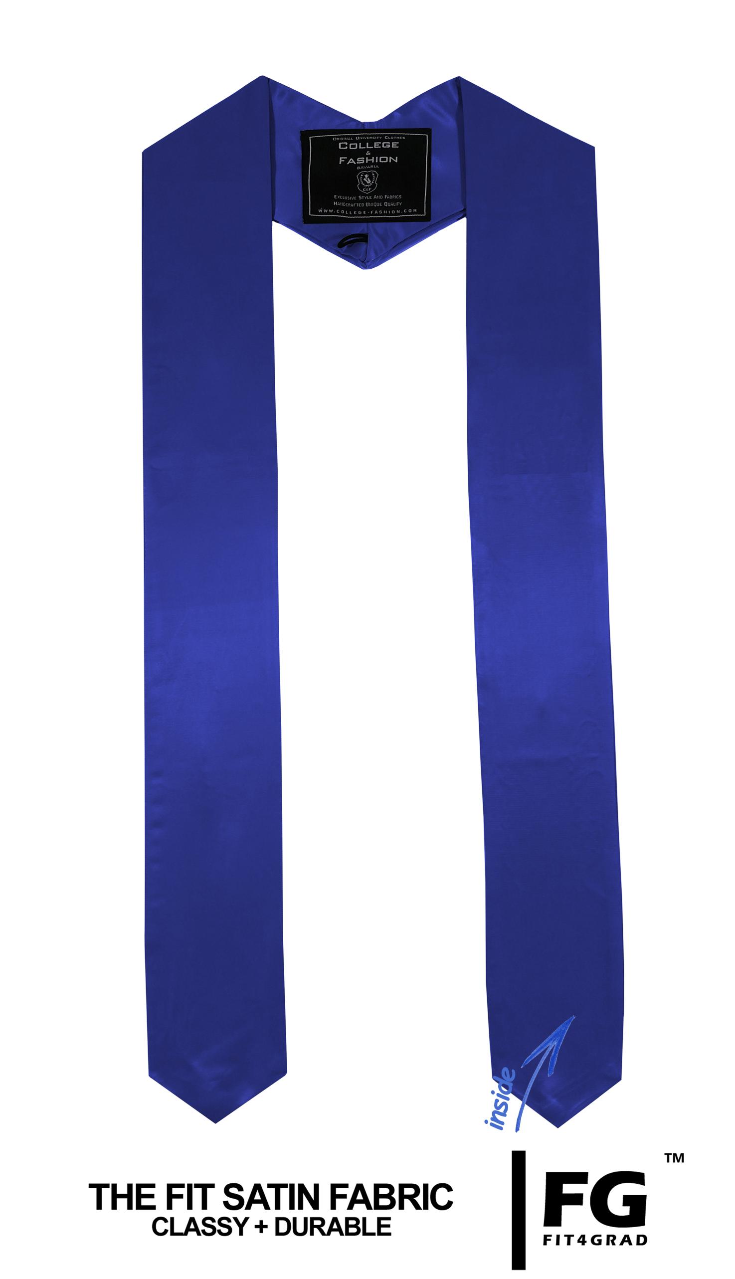 Schärpe Abschluss spitz royal-blau