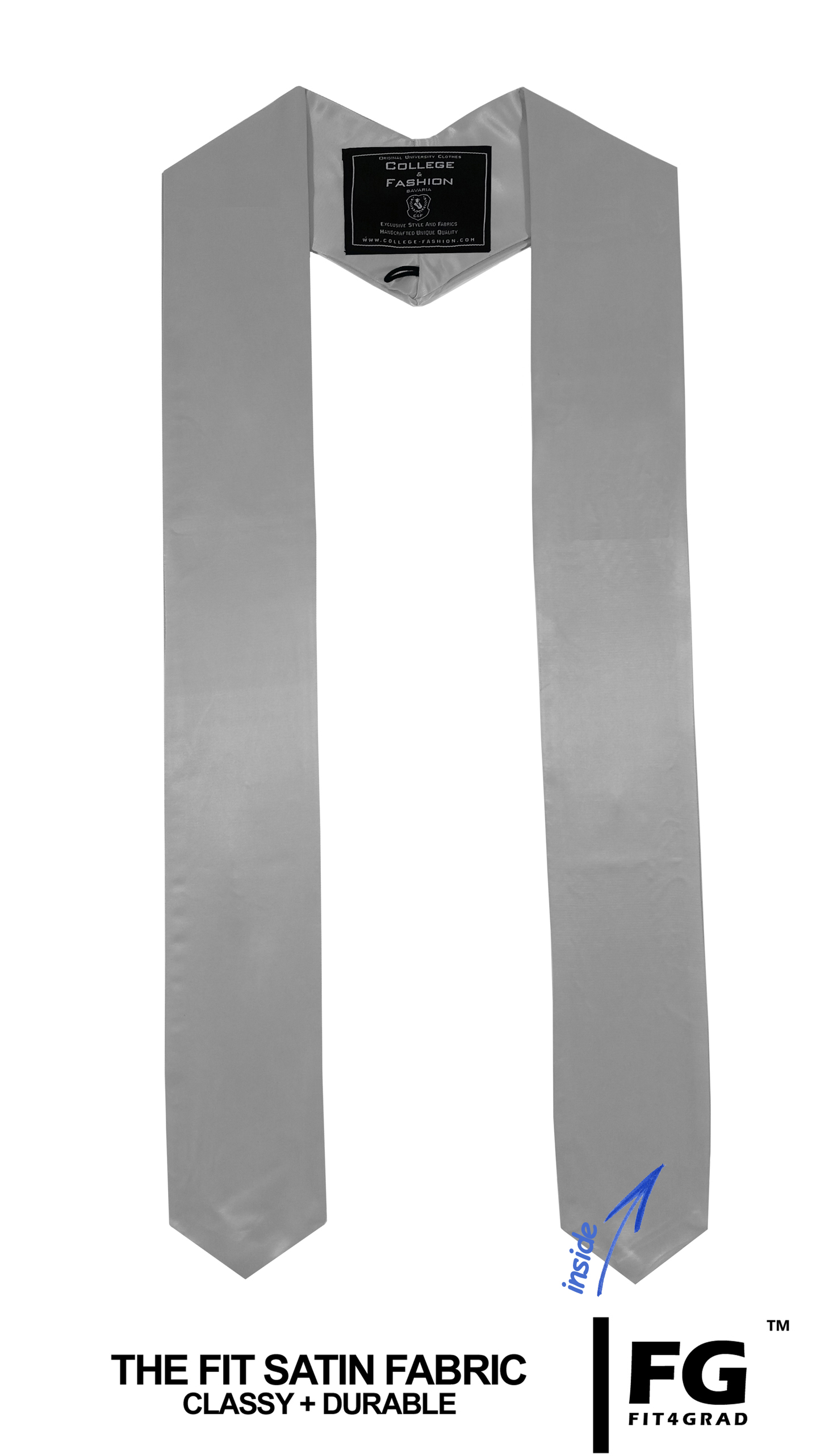 Schärpe Abschluss spitz silber