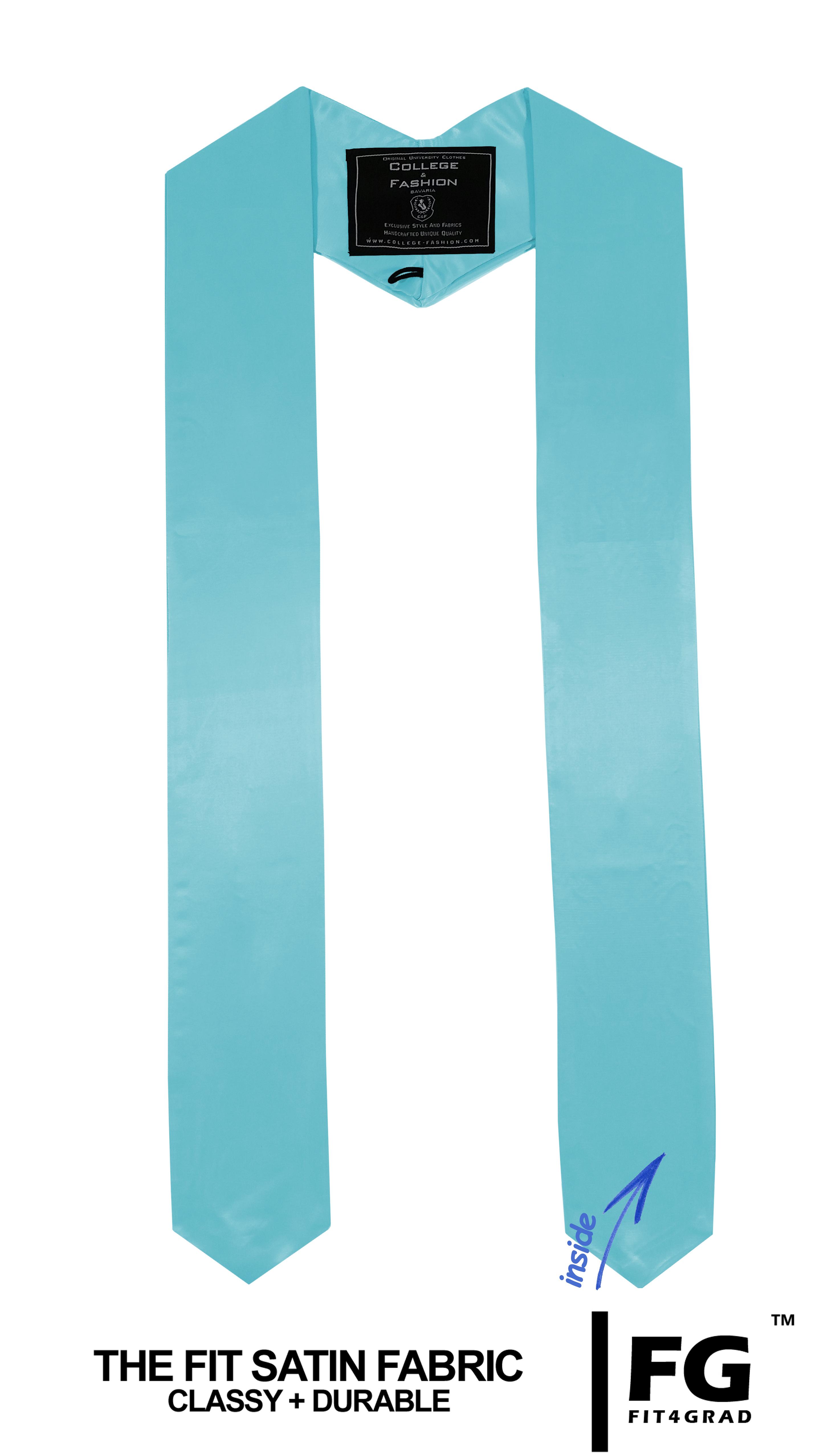 Schärpe Abschluss spitz hell-blau