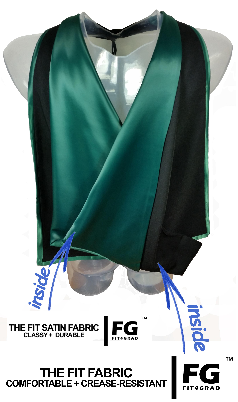 Akademischer Hood in schwarz-dunkelgrün