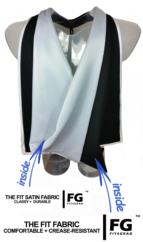 Akademischer Hood in schwarz-weiss