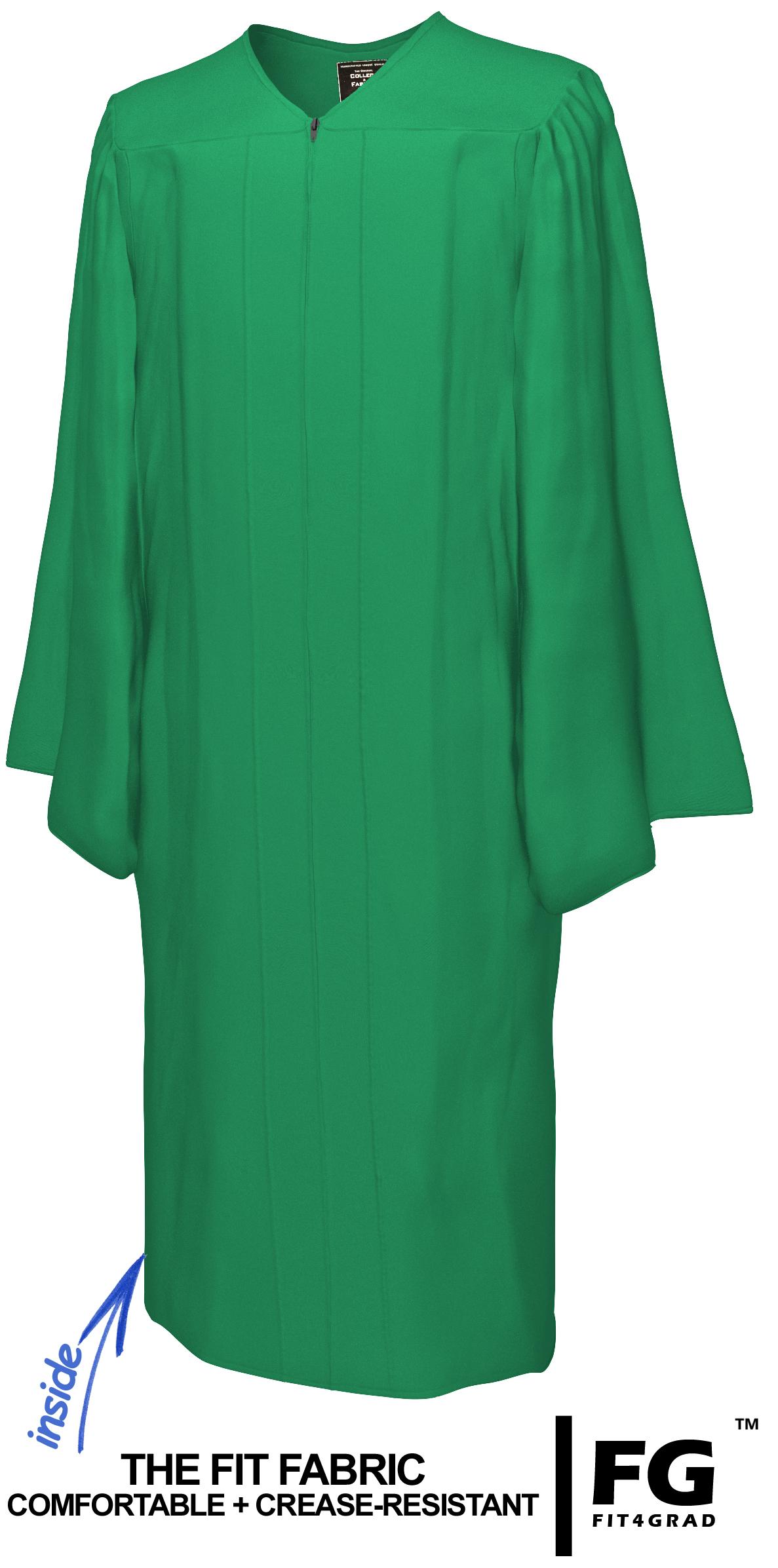 Talar, MATT, smaragd-grün