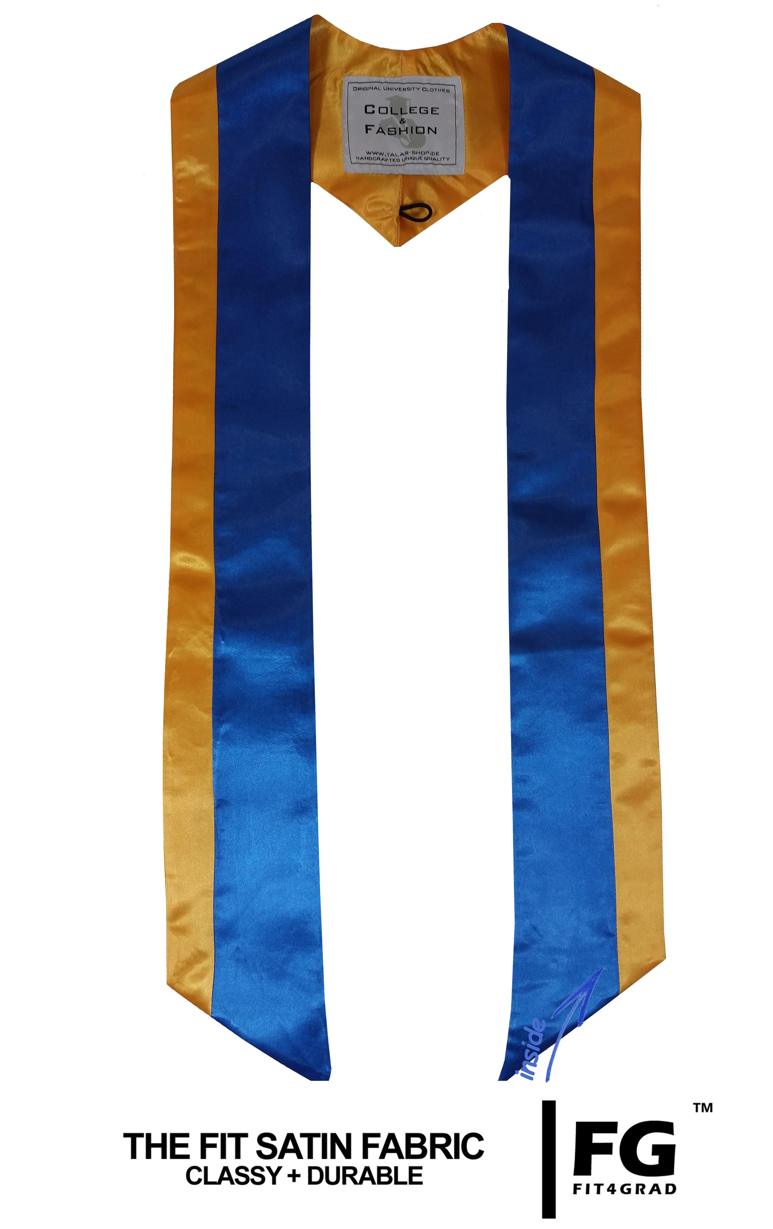 mehrfarbige Schärpe in gelb/blau