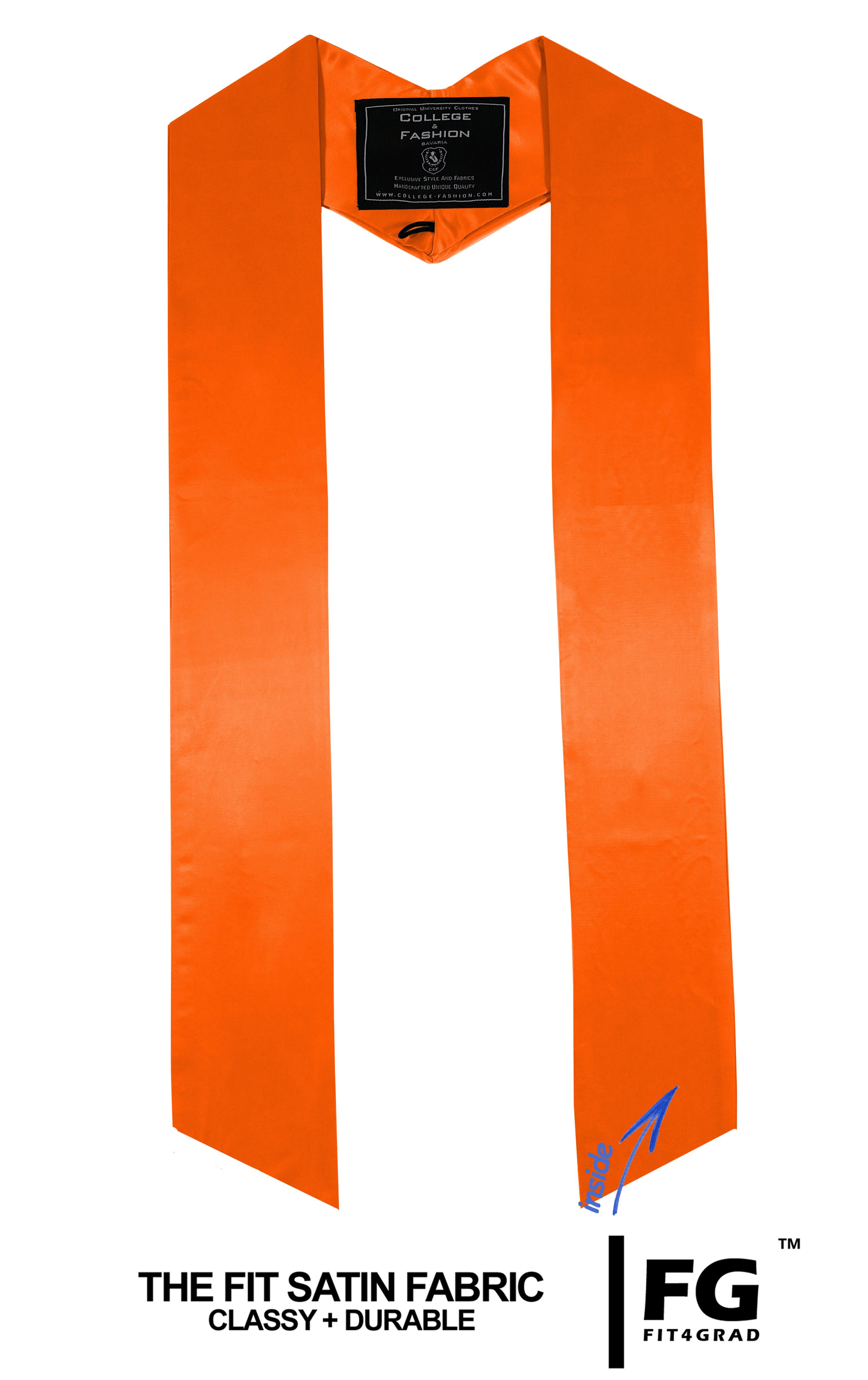 einfarbige Schärpe in orange